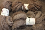 Romney Roving - Natural Brown