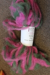 Romney Roving - Pink/Green