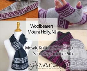 MOSAIC KNITTING WORKSHOP: An introduction to the Magic of Mosaic Knitting with SIMONE KEREIT (OwlCat Designs)