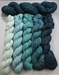 High Sierra Shawl - Teals